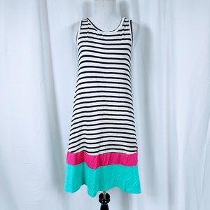 Reborn J Striped colorblock Sleeveless ALINE Dress